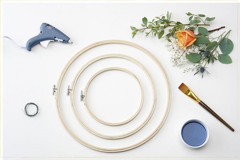 DIY Hoop Wreath Materials