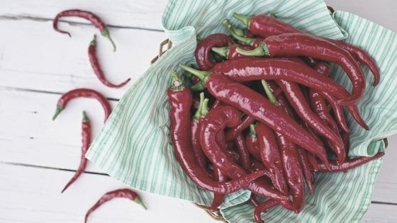 Cayenne Peppers in a basket