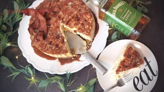 Cut Slice of Bacon Tennessee Apple Whiskey Cheesecake